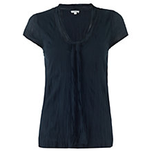 Buy Jigsaw Cotton Tie Top, Navy Online at johnlewis.com