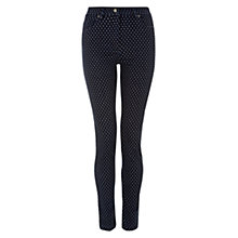 Buy Hobbs Dotty Jeans, Indigo Online at johnlewis.com