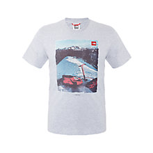 Buy The North Face Mountain Print T-Shirt, Grey Online at johnlewis.com
