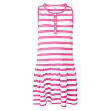 Buy John Lewis Girl Striped Jersey Dress, Pink Online at johnlewis.com