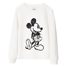 Buy Mango Kids Girls' Disney Sequin Sweatshirt, White Online at johnlewis.com