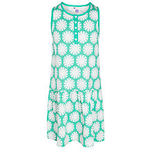Buy John Lewis Girl Geometric Flower Jersey Dress, Green Online at johnlewis.com