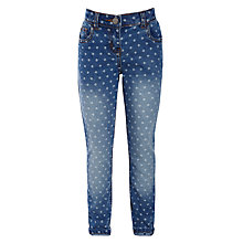 Buy John Lewis Girl Spotted Jeans, Denim Online at johnlewis.com