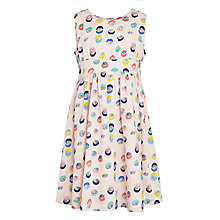 Buy John Lewis Girl Double Spot Cotton Dress, Pink Online at johnlewis.com