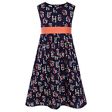 Buy John Lewis Girl Floral Cotton Dress, Navy Online at johnlewis.com