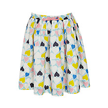 Buy John Lewis Girl Heart Patterned Cotton Skirt, Multi Online at johnlewis.com