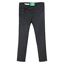 Buy Mango Kids Girls' Star Print Skinny Jeans, Black Online at johnlewis.com