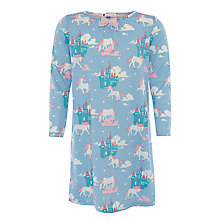 Buy John Lewis Girl Unicorn Castle Long Sleeve Nightie, Blue Online at johnlewis.com