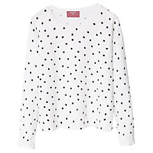 Buy Mango Kids Girls' Star Print Jumper, White Online at johnlewis.com