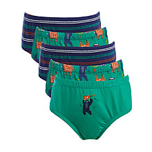 Buy John Lewis Boy Musical Animals & Stripes Pants, Pack of 5 Online at johnlewis.com