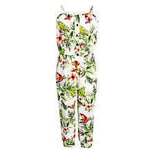 Buy John Lewis Girl Tropical Print Jumpsuit, Multi Online at johnlewis.com
