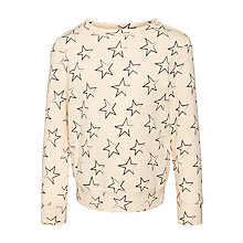 Buy John Lewis Girl Star Patterned Jumper, Peach Online at johnlewis.com