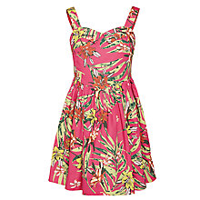 Buy John Lewis Girl Palm Tree Print Cotton Dress, Pink/Multi Online at johnlewis.com
