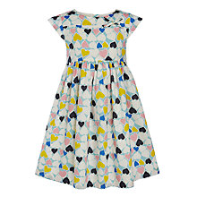 Buy John Lewis Girl Hearts Cotton Flare Dress, Multi Online at johnlewis.com