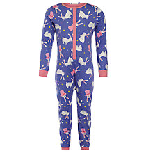 Buy John Lewis Girl Magic Bunny Patterned Onesie, Purple Online at johnlewis.com