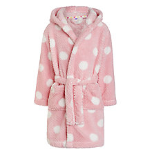 Buy John Lewis Girls' Big Spot Patterned Robe, Pink Online at johnlewis.com