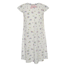 Buy John Lewis Girl Vintage Floral Patterned Short Sleeve Nightie, Cream Online at johnlewis.com