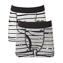 Buy John Lewis Boy Glow in the Dark Halloween Briefs, Pack of 2, Grey Online at johnlewis.com
