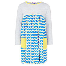 Buy John Lewis Girl Chevron Geometric Dress, Grey Online at johnlewis.com