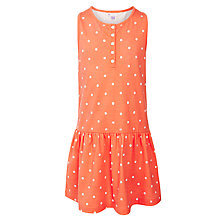 Buy John Lewis Girl Spot Jersey Dress, Orange Online at johnlewis.com