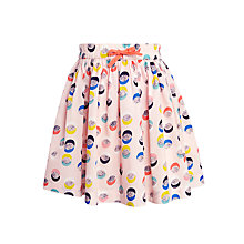 Buy John Lewis Girl Double Spot Print Skirt, Pink/Multi Online at johnlewis.com