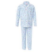 Buy John Lewis Girl Vintage Bluebell Cotton Pyjamas, Blue Online at johnlewis.com