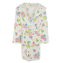 Buy John Lewis Girl Floral Robe, Cream Online at johnlewis.com