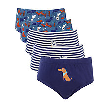 Buy John Lewis Boy Dog Theme Briefs, Pack of 3, Multi Online at johnlewis.com