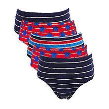 Buy John Lewis Boy Nautical Pants, Pack of 5 Online at johnlewis.com