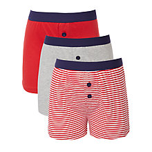 Buy John Lewis Boy Plain And Stripe Boxers, Pack of 3 Online at johnlewis.com