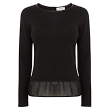 Buy Coast Luca Knitted Top, Black Online at johnlewis.com