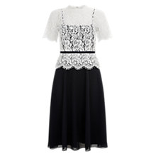 Buy Hobbs Pru Dress, Black Online at johnlewis.com