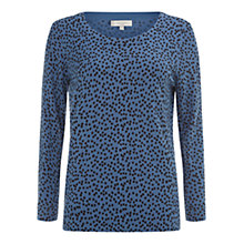 Buy Hobbs Sidra Sweat Top, Navy Oil Blue Online at johnlewis.com