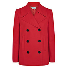 Buy Hobbs Moya Coat, Cherry Red Online at johnlewis.com