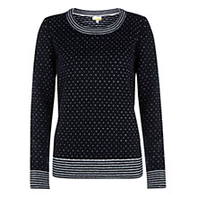 Buy NW3 by Hobbs Lia Jumper, Navy Online at johnlewis.com
