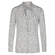 Buy Hobbs Nadene Blouse, Ivory Online at johnlewis.com