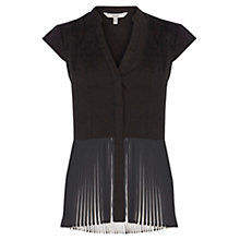 Buy Coast Peggy Pleated Hem Shirt, Mono Online at johnlewis.com