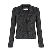 Buy Hobbs Mona Jacket, Black Melange Online at johnlewis.com