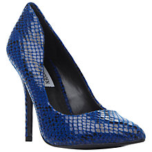 Buy Steve Madden Galery-S Toe Pointed Stiletto Court Heels, Blue Online at johnlewis.com