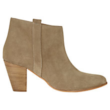Buy Jigsaw Alice Block Heeled Ankle Boots Online at johnlewis.com