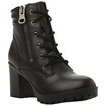 Buy Steve Madden Noodless Leather Ankle Boots, Black Online at johnlewis.com