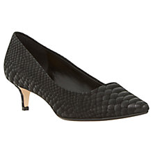 Buy Dune Annielou Pointed Court Shoes, Black Reptile Online at johnlewis.com