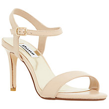 Buy Dune Mallorie Two Part Leather Sandals, Nude Online at johnlewis.com