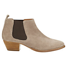 Buy Jigsaw Sally Suede Ankle Boots, Mocca Online at johnlewis.com