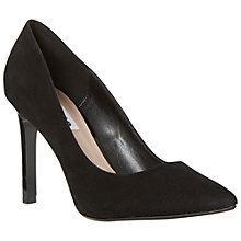Buy Dune Alwen Pointed Toe Court Shoes, Black Suede Online at johnlewis.com
