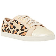 Buy Dune Ennis Leopard Lace Up Trainers, Leopard Pony Online at johnlewis.com