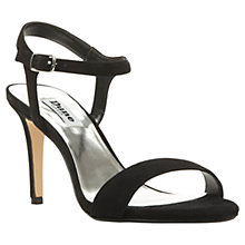Buy Dune Mallorie Two Part Suede Sandals, Black Online at johnlewis.com
