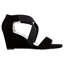 Buy Unisa Diana Wedged Suede Sandals, Black Online at johnlewis.com