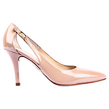 Buy Unisa Tersis Poined Toe Patent Court Shoes, Pink Online at johnlewis.com