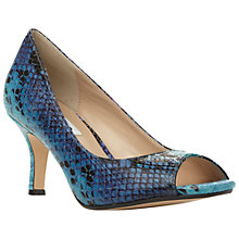 Buy Dune Delphinn Peep Toe Court Shoes, Blue Online at johnlewis.com